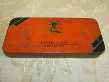 Antique Collectable Jacob & Co's Biscuits Free Sample Tin