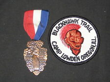 Blackhawk Trail Camp Lowden, Oregon, Ill. Medal and Patch  c000