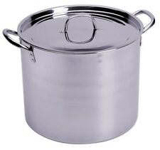 CONCORD 60 QT Full Stainless Steel Stock Pot w Steamer. Home Brew Cookware Beer