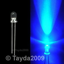 20 x LED 5mm Blue Water Clear Ultra Bright - FREE SHIP