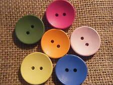 5 Grandes De Madera Madera Botones botón Craft Joyería De Coser De 30 Mm Ronda mixtos