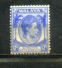1937 Malaya Malaysia Straits Settlements 12c Mint Hinged CV 35