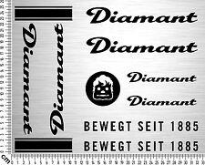 DIAMANT Sticker Set 2 | Fahrrad Rahmen Aufkleber | Bike Frame Sticker | 8 Decals