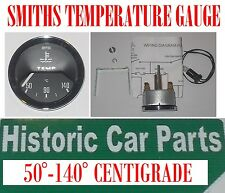 SMITHS WATER TEMPERATURE GAUGE - 50-140 Centigrade Black Face suit 50-70s cars