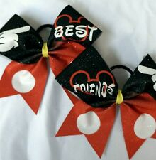 Cheer Bow -  Mickey Best Friends Set  Glitter  - Hair Bows