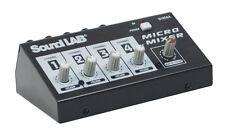 Table de Mixage 4 micros Soundlab avec Effets echo et Contrôle de Volume