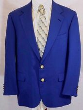 VTG POLO Univ RALPH LAUREN Mens 44R Blazer/Sport/Suit Jacket-GOLD BUTTONS USA