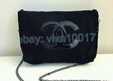 New Chanel Beaute Black Logo Cosmetic Makeup Shoulder Bag VIP Gift