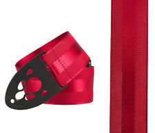 NEW DELUXE RED STRAP new strap lock cut out guitar bass UK locks nylon rouge