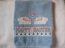 Easter Hand Towel Bathroom or Kitchen Happy Easter and Bunnies Easter Decoration