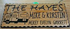 Personalized Cedar Sign Custom Camping & House Sign