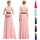 Women Long Pleated Evening Party Dress Ball Prom Gowns Formal Bridesmaid Dresses