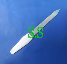 Nail File 13cm Stainless Steel With White Handle Manicure Pedicure B-703