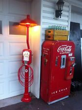 Restored Vintage Eco  Air Meter Gas Oil Texaco..Light Post