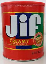 JIF Creamy Peanut Butter Family Size 4 Pound Can