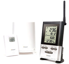 New Oregon Scientific Wireless Rain Gauge Accurate Weather Station w/Thermometer