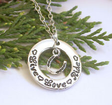 HORSE & WESTERN JEWELLERY JEWELRY LIVE LOVE RIDE  NECKLACE SILVER