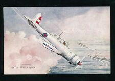 Aviation Military RAF air force SKUA Dive Bomber Artist Bannister cWW2 PPC