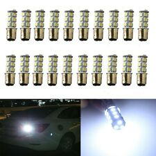 20PCS Xenon White 1157 BAY15D 18 SMD 5050 LED Tail Brake Stop Signal Light Bulbs