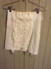 Vintage white Best Form open Bottom girdle w/ garters & side zipper sz 28