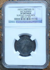 Great Britain Uk Coin Shilling 1879 Die #1 Ngc Xf Hairlines Rare
