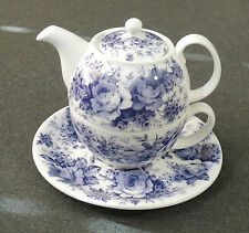 Roy Kirkham England 2004 English Chintz Tea For One Teapot W/Plate New