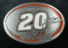 TONY STEWART HOME DEPOT#20 NASCAR BELT BUCKLE PEWTER
