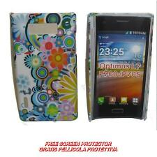 Pellicola+custodia BACK COVER FANT FIORI COLORATI per LG Optimus L7 P700 (H9)