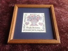 Creative Calligraphy Lynn Norton Parker Framed Matted ' Friends, Like Flowers...