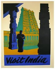 "Indian Art Travel Poster Vintage India Decor Print 12x16"" XR435"