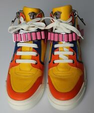 Mens Rare Versace Multi Color Sneakers Sport Shoes EU 42/US 9 $1195