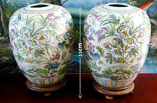 Large  ART pottery  2  Chinese   table lamp vases ,.,.