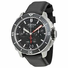 ALPINA AL-372LBG4V6 NEW SEASTRONG DIVER 300 BIG DATE 13 JEWELS CHRONOGRAPH WATCH