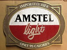 "Amstel Light Beer Signs - ""Imported Bier"" - Man Cave Bar - NOS"