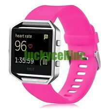 Silicone Rubber Sport Watch Band Strap Watchband + Clasp For Fitbit Blaze Watch