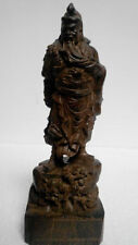 Collectible 100% Chinese Agarwood Wood Hand Carved statue-Guan Gong NRR