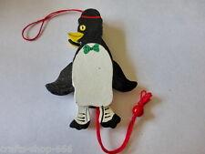 Holz-Hampelmann  Pinguin - Grün - Neu