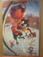 Vintage 1995 Looney Tunes basketball original character poster Taz Bugs  6973