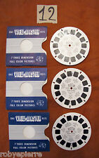 3 dischetti VIEW MASTER 1992 a b c world's fair brussels 1958 BRUXELL BELGIO L12
