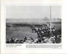 WW1 And 18 Pounder Gun In Action Household Brigade Gallop Past