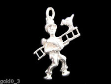 Chimney Sweep Charm Sterling silver 925 charmmakers 3D