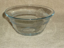 "Fire King Sapphire Blue Glass Philbe 4"" Fluted Edge Custrd Cup Bowl Dish"