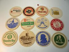 Lot de 12 Sous-bocks anciens allemands, tbe  - World FREE Shipping*SB9