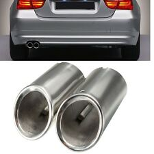 2x Muffler Exhaust Tail Pipe Tip Chrome For BMW E90 E92 325i 3 Series 2006-2010