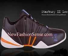 New Authentic Starbury 2 Black Orange White Low Top Athletic Shoes Size 7