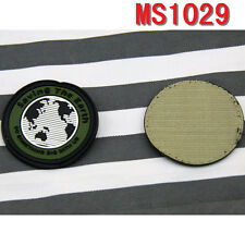 Wholesale Lot Saving the Earth Design Rubber Velcro Military Patch Badge Patches