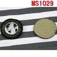 Speichern der Erde Entwurf Rubber Velcro-Militär besser Badge Patches