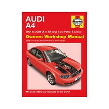 [4609] Audi A4 1.8T 2.0 Petrol 1.9 Turbo Diesel 01-04 (X to 54 Reg) Haynes Manua