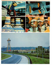 Two 1970's postcards- Exit Sign and Gift Shop - South of the Border, S.C.