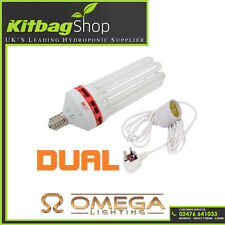 300w CFL Dual Spectrum (6400k+2700k) Grow & Flower Lamp Bulb +E40 Light Pendant